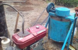 An equipment given to village to help extract red palm oil